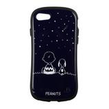 【iPhone7】 スヌーピーiFaceケース スヌーピー&チャーリー・ブラウン/ネイビー│携帯・スマホケース iPhoneケース