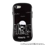 【iPhone8/7】 スヌーピーiFaceケース スヌーピー&ウッドストック/ブラック
