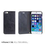 【iPhone7】 CERTA(ケルタ)ダイアリーケース チャコールブラック