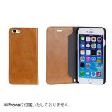 【iPhone7】 CERTA(ケルタ)ダイアリーケース キャメル