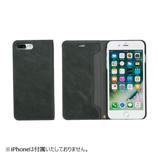 【iPhone7Plus】 CERTA(ケルタ)ダイアリーケース チャコールブラック