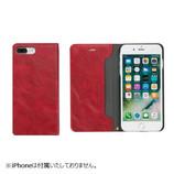 【iPhone7Plus】 CERTA(ケルタ)ダイアリーケース レッド