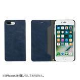 【iPhone7Plus】 CERTA(ケルタ)ダイアリーケース ネイビー