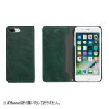 【iPhone7Plus】 CERTA(ケルタ)ダイアリーケース グリーン