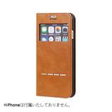 【iPhone7】 CERTA(ケルタ)フリップ窓付きダイアリーケース キャメル