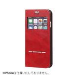 【iPhone7】 CERTA(ケルタ)フリップ窓付きダイアリーケース レッド