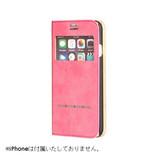 【iPhone7】 COSMO FLIP 窓付きダイアリーケース マーズ/ホットピンク