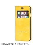【iPhone7】 COSMO FLIP 窓付きダイアリーケース カペラ/イエロー