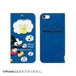 【iPhone7】 ディズニーキャラクター/フリップ窓付きダイアリーケース ミッキーマウス