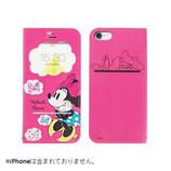 【iPhone7】 ディズニーキャラクター/フリップ窓付きダイアリーケース ミニーマウス