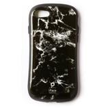 【iPhone7】 iFace First Classケース 大理石風 ブラック