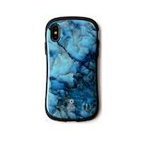 【iPhoneXS/X】iFace ファーストクラス マーブルケース ブルー