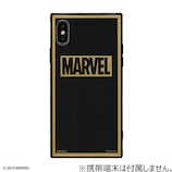 【iPhoneXs/X】 EYLE MARVEL(マーベル)TILEケース ロゴ ブラック/グリッター