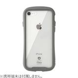 【iPhone8/7】iFace Reflection 強化ガラスクリアケース グレー