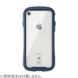 【iPhone8/7】iFace Reflection 強化ガラスクリアケース ネイビー