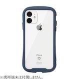 【iPhone11】iFace Reflection 強化ガラスクリアケース ネイビー