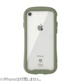 【iPhoneSE(第2世代)/8/7】 iFace Reflection 強化ガラスクリアケース カーキ
