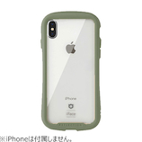 【iPhoneXS/S】  iFace Reflection 強化ガラスクリアケース カーキ