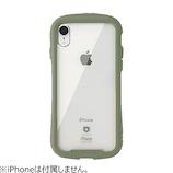 【iPhoneXR】  iFace Reflection 強化ガラスクリアケース カーキ