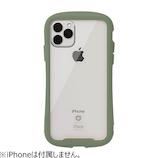 【iPhone11Pro】  iFace Reflection 強化ガラスクリアケース カーキ