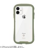 【iPhone11】  iFace Reflection 強化ガラスクリアケース カーキ