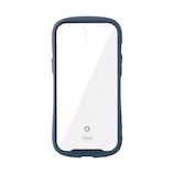 【iPhone12ProMax】 iFace Reflection 強化ガラスクリアケース ネイビー