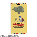 【iPhone11/XR】 PEANUTS フリップ窓付きダイアリーケース スヌーピー 応援│携帯・スマホケース iPhoneケース