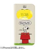 【iPhoneSE(第2世代)/8/7/6s/6】 PEANUTS フリップ窓付きダイアリーケース スヌーピー ドッグディッシュ│携帯・スマホケース iPhoneケース