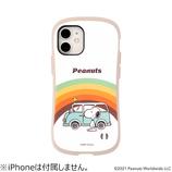 【iPhone12mini】 iFace First Class Cafeケース PEANUTS レインボー│携帯・スマホケース iPhoneケース