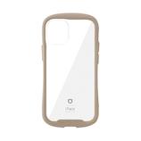 【iPhone12mini】 iFace Reflection 強化ガラスクリアケース ベージュ│携帯・スマホケース iPhoneケース