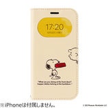 【iPhone12/12Pro】 Hamee フリップ窓付きダイアリーケース PEANUTS CB/ドッグディッシュ│携帯・スマホケース iPhoneケース