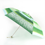 エスタ(estaa) 雨傘 エスタ×ケシキ UV折りたたみミニ傘 山と空 58cm ビリジアン