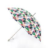 エスタ(estaa) 雨傘 エスタ×ケシキ UV長傘 住宅街 58cm レッド
