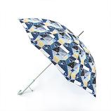 エスタ(estaa) 雨傘 エスタ×ケシキ UV長傘 住宅街 58cm ネイビーブルー
