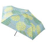 エスタ(estaa) 超軽量 折りたたみ傘 50cm 花ドット ペールブルー
