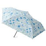 エスタ(estaa) 折りたたみ傘 晴雨兼用 一級遮光P超軽量 ブーケ サックスブルー│レインウェア・雨具 折り畳み傘