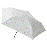 エスタ(estaa) 折りたたみ傘 晴雨兼用 一級遮光P超軽量 kusabana オフホワイト