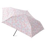 エスタ(estaa) 折りたたみ傘 晴雨兼用 一級遮光P超軽量 ドットフラワー ピンク