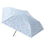 エスタ(estaa) 折りたたみ傘 晴雨兼用 一級遮光P超軽量 ドットフラワー サックスブルー│レインウェア・雨具 折り畳み傘