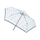 エスタ(estaa) 透明ミニ傘 ドット スカイブルー│レインウェア・雨具 折り畳み傘
