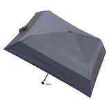 マス(masu) 折りたたみ傘 メンズ 晴雨兼用 パラソル4本骨 バイカラー ダークグレー│レインウェア・雨具 折り畳み傘