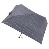マス(masu) 折りたたみ傘 メンズ 晴雨兼用 パラソル4本骨 ドット グレー│レインウェア・雨具 折り畳み傘