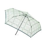 エスタ(estaa) 透明ミニ傘 チェック グリーン│レインウェア・雨具 折り畳み傘