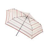 エスタ(estaa) 透明ミニ傘 ボーダー オレンジ│レインウェア・雨具 折り畳み傘