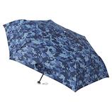 ウラワザ(urawaza) 折りたたみ傘 軽量 ピクセルカモ ネイビーブルー