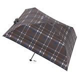 マス(masu) 折りたたみ傘 メンズ 晴雨兼用 パラソル4本骨 チェック ブラウン│レインウェア・雨具 折り畳み傘