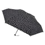 urawaza(ウラワザ) 3秒でたためる 折りたたみ傘 5段ミニ 晴雨兼用 ドット ブラック│レインウェア・雨具 折り畳み傘