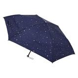 urawaza(ウラワザ) 3秒でたためる 折りたたみ傘 晴雨兼用 星柄 ネイビーブルー│レインウェア・雨具 折り畳み傘