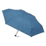 urawaza(ウラワザ) 3秒でたためる 折りたたみ傘 5段ミニ 晴雨兼用 星柄 ターコイズブルー│レインウェア・雨具 折り畳み傘
