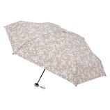urawaza(ウラワザ) 3秒でたためる 折りたたみ傘 5段ミニ 晴雨兼用 花柄 ベージュ│レインウェア・雨具 折り畳み傘
